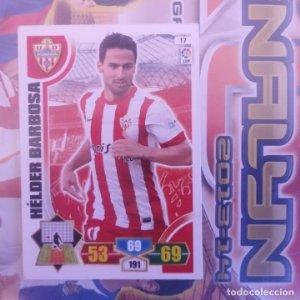 Nº 17 Hélder Barbosa U.D. Almería. Adrenalyn 2013 2014 13 14 Panini. Trading card game. Liga BBVA
