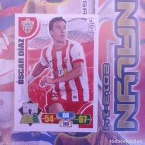 Nº 18 Óscar Díaz U.D. Almería. Adrenalyn 2013 2014 13 14 Panini. Trading card game. Liga BBVA