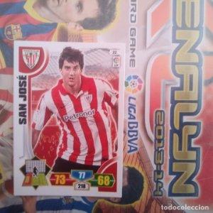 Nº 22 San José Athletic Club Bilbao. Adrenalyn 2013 2014 13 14 Panini. Trading card game. Liga BBVA
