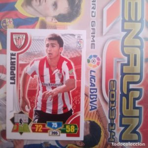 Nº 23. Laporte Athletic Club Bilbao. Adrenalyn 2013 2014 13 14 Panini. Trading card game. Liga BBVA