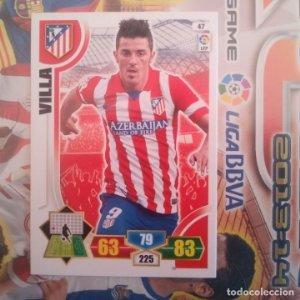 Nº 47 Villa Atlético de Madrid Adrenalyn 2013 2014 13 14 Panini. Trading card game. Liga BBVA