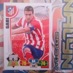 Nº 43 Gabi Atlético de Madrid Adrenalyn 2013 2014 13 14 Panini. Trading card game. Liga BBVA