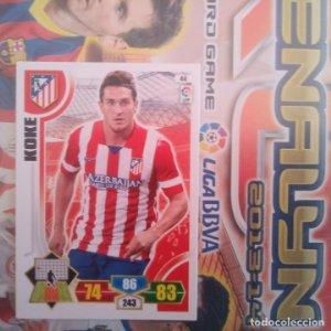 Nº 44 Koke Atlético de Madrid Adrenalyn 2013 2014 13 14 Panini. Trading card game. Liga BBVA