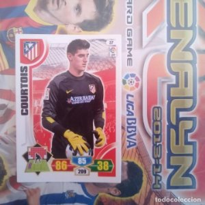 Nº 37 Courtois Atlético de Madrid Adrenalyn 2013 2014 13 14 Panini. Trading card game. Liga BBVA