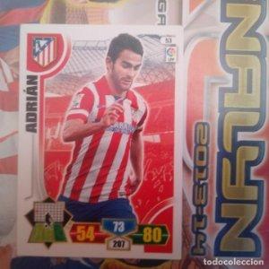 Nº 53 Adrián Atlético de Madrid Adrenalyn 2013 2014 13 14 Panini. Trading card game Liga BBVA