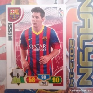 Nº 64 Messi F.C. Barcelona Adrenalyn 2013 2014 13 14 Panini. Trading card game Liga BBVA