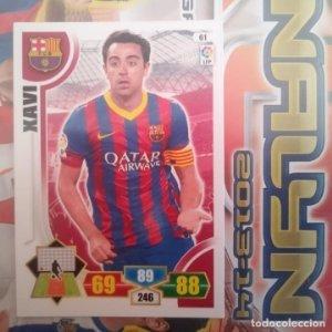Nº 61 Xavi F.C. Barcelona Adrenalyn 2013 2014 13 14 Panini. Trading card game Liga BBVA