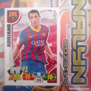 Nº 68 Adriano F.C. Barcelona Adrenalyn 2013 2014 13 14 Panini. Trading card game Liga BBVA