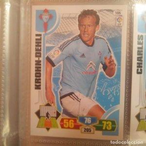 Nº 105. Kron-Dehli. Celta de Vigo. Adrenalyn 2013 2014 13 14 Panini. Trading card game. Liga BBVA