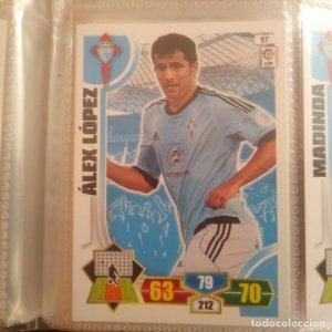 Nº 97 Álex López. Celta de Vigo. Adrenalyn 2013 2014 13 14 Panini. Trading card game. Liga BBVA