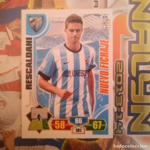 Nº 478 Rescaldani. Nuevo fichaje Málaga. Adrenalyn 2013 2014 13 14 Panini. Trading card. Liga BBVA