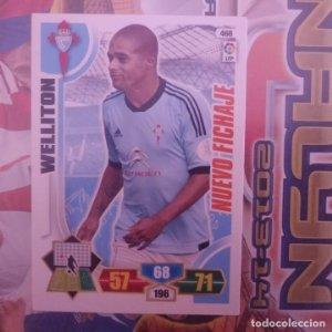 Nº 468 Welliton. Nuevo fichaje Celta de Vigo. Adrenalyn 2013 2014 13 14 Panini. Liga BBVA