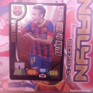 Nº 454 Neymar. Balón de Oro. F.C.Barcelona. Adrenalyn 2013 2014 13 14 Panini. Liga BBVA