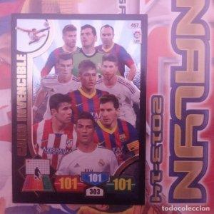 Nº 457 Card Invencible. Ronaldo, Messi, Neymar, Iniesta. Adrenalyn 2013 2014 13 14 Panini. Liga BBVA