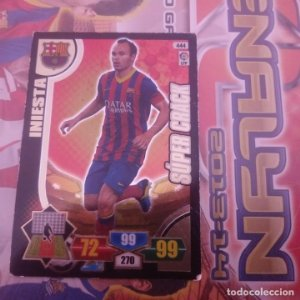 Nº 444 Iniesta. Súper Crack F.C.Barcelona. Adrenalyn 2013 2014 13 14 Panini. Liga BBVA