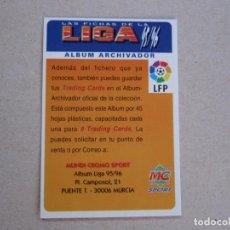 Cromos de Fútbol: MUNDICROMO FICHAS LIGA 95 96 BONO ALBUM ARCHIVADOR 1995 1996. Lote 155627000