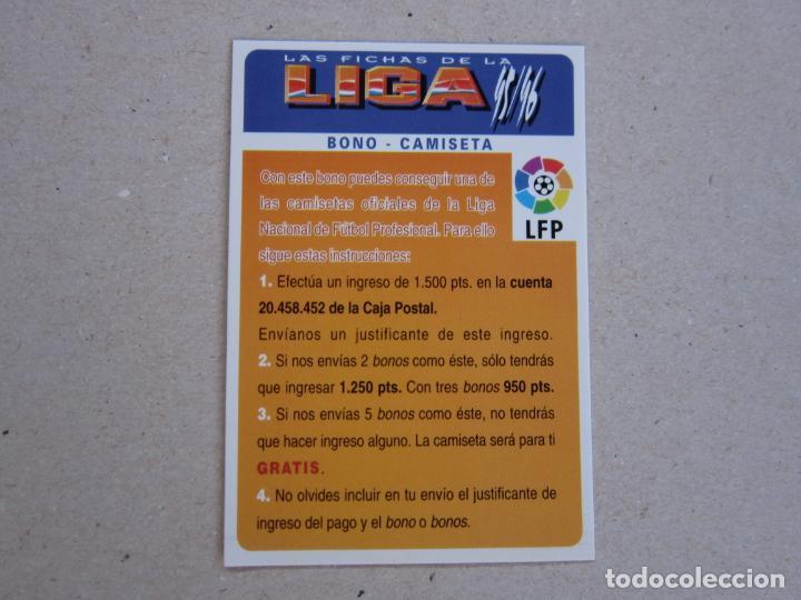MUNDICROMO FICHAS LIGA 95 96 BONO CAMISETA 1995 1996 (Coleccionismo Deportivo - Álbumes y Cromos de Deportes - Cromos de Fútbol)