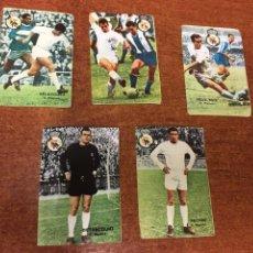 Cromos de Fútbol: LOTE 5 CROMOS NUNCA PEGADOS - FHER DISGRA TEMPORADA 1967 1968 - 67 68 - REAL MADRID. Lote 154682610