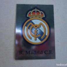 Cromos de Fútbol: MUNDICROMO FICHAS LIGA 2002 2001 BRILLO LISO Nº 1 ESCUDO REAL MADRID 01 02. Lote 154684114