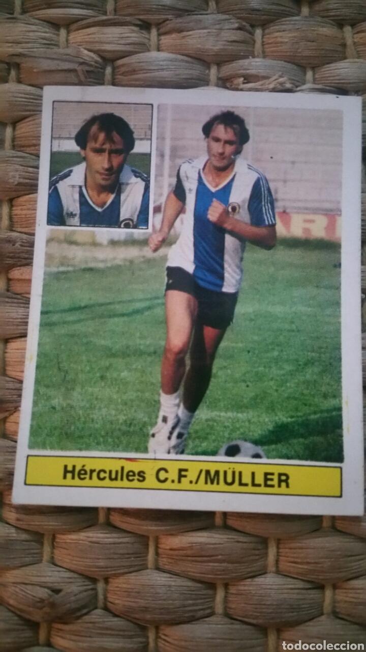 ESTE 81 82 ERROR MÜLLER (HER) (UF 28 BIS) DESPEGADO (Coleccionismo Deportivo - Álbumes y Cromos de Deportes - Cromos de Fútbol)