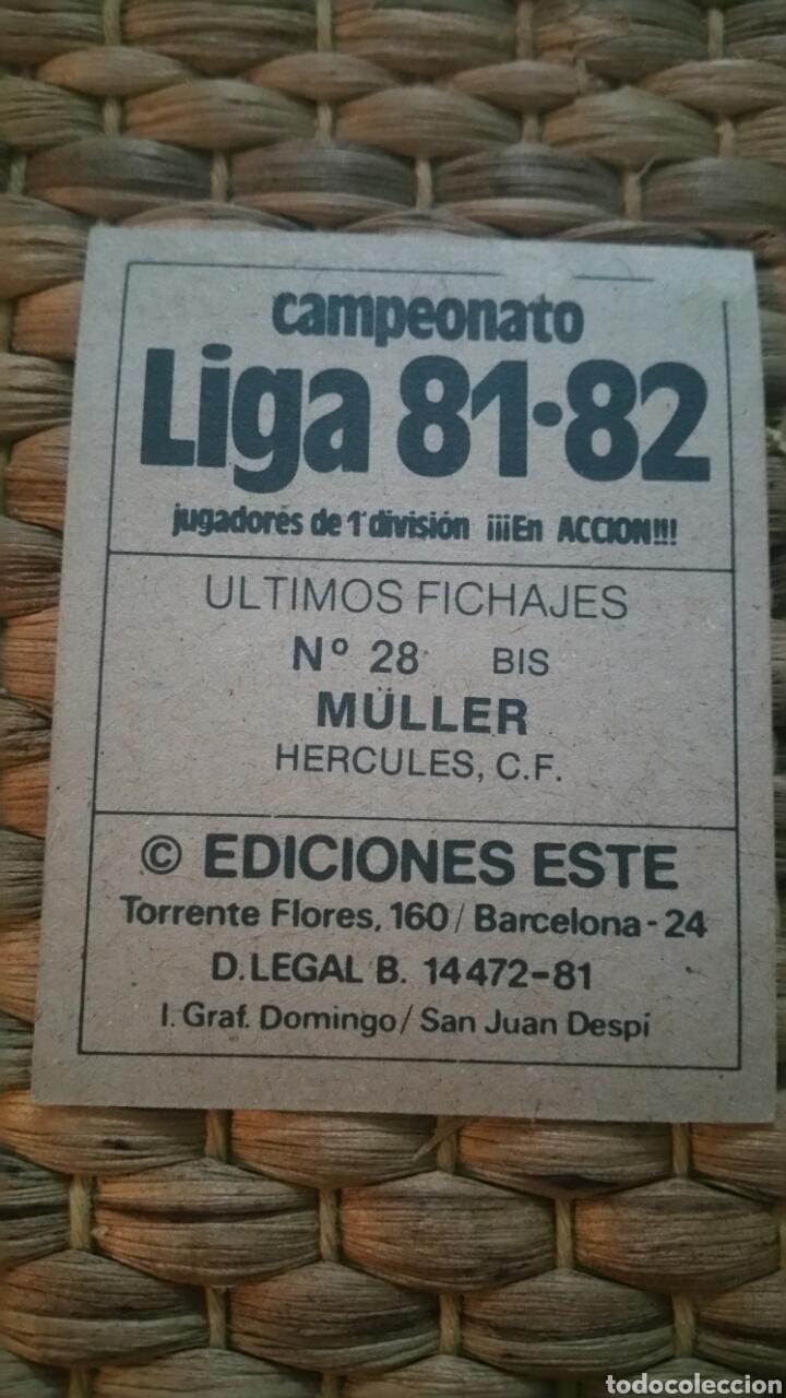 Cromos de Fútbol: Este 81 82 Error Müller (HER) (UF 28 Bis) despegado - Foto 2 - 154730642