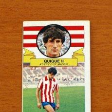 Cromos de Fútbol: ATLÉTICO MADRID - QUIQUE II - FICHAJE 18 - EDICIONES ESTE 1985-86, 85-86 - CROMO NUNCA PEGADO. Lote 154740852