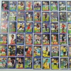 Cromos de Fútbol: COLECCION DE 54 CROMOS DE FUTBOL ESTRELLAS EUROPEAS 1996. Lote 154986298