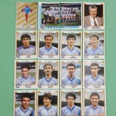 Cromos de Fútbol: PANINI FUTBOL 88 CELTA DE VIGO 17 CROMOS NUNCA PEGADOS 1987-1988 87-88. Lote 155136994