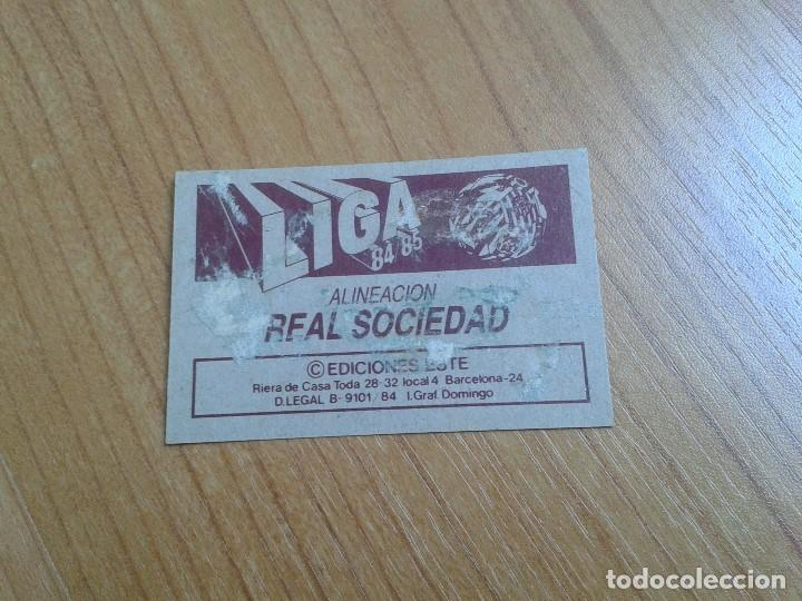 Cromos de Fútbol: Real Sociedad -- Alineación -- 84/85 -- Este -- Recuperado - Foto 2 - 155249006