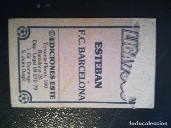 Cromos de Fútbol: ESTE 79/80 1979/80 ESTEBAN RECUPERADO DEL ALBUM - Foto 2 - 155249710