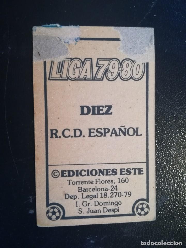 Cromos de Fútbol: ESTE 79/80 1979/80 DIEZ RECUPERADO DEL ALBUM - Foto 2 - 155249770