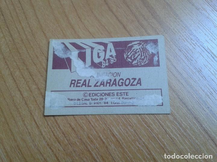 Cromos de Fútbol: Zaragoza -- Alineación -- 84/85 -- Este -- Recuperado - Foto 2 - 155249842