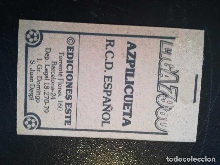 Cromos de Fútbol: ESTE 79/80 1979/80 AZPILICUETA RECUPERADO DEL ALBUM - Foto 2 - 155249886