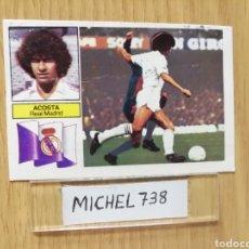 Cromos de Fútbol: ESTE LIGA 82/83..VERSION ACOSTA... REAL MADRID SIN PUBLICIDAD... RECUPERADO.... Lote 155337289