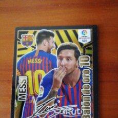 Cromos de Fútbol: PANINI BALON DE ORO FIRMADO MESSI N 520. Lote 155350273