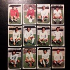 Cromos de Fútbol: 14 CROMOS REAL MADRID. ESTE 1976-1977 76-77. DESPEGADOS. VER FOTOS DE FRONTAL Y TRASERA. Lote 155705177