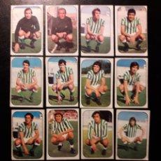 Cromos de Fútbol: 14 CROMOS REAL BETIS. ESTE 1976-1977 76-77. DESPEGADOS. VER FOTOS DE FRONTAL Y TRASERA. Lote 155705306
