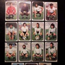 Cromos de Fútbol: 15 CROMOS RACING DE SANTANDER. ESTE 1976-1977 76-77. DESPEGADOS. VER FOTOS DE FRONTAL Y TRASERA. Lote 155705554