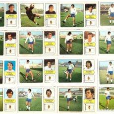 Cromos de Fútbol: LOTE DE 16 CROMOS DE FUTBOL ALBUM 1973-74 FHER: R. ZARAGOZA (EQUIPO COMPLETO) (MAR-19). Lote 155712794