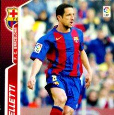 Cromos de Fútbol: 57 BELLETTI - F.C. BARCELONA - MEGACRACKS MEGA CRACKS 2005 2006 PANINI 05 06. Lote 155986190