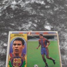 Cromos de Fútbol: ESTE 96 97 RONALDO VERSION CON PELO FC BARCELONA. Lote 156146062