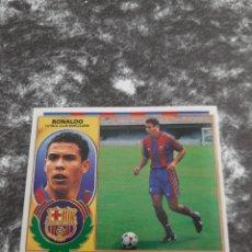 Cromos de Fútbol: ESTE 96 97 RONALDO VERSION CON PELO FC BARCELONA. Lote 156147001