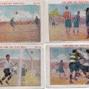 Cromos de Fútbol: 4 CROMOS DE LA COLECCIÓN, LOS ASESDEL FOOT- BALL AÑOS 20 . Lote 156482786