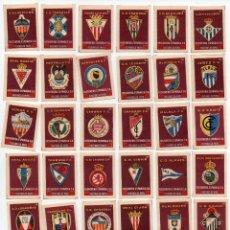 Cromos de Fútbol: 49 ESCUDOS DE CAJAS DE CERILLAS,COMPLETA AÑOS 1957. Lote 156493402