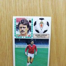 Cromos de Fútbol: ESTE LIGA 83/84...FICHAJE N °2..ALBADALEJO.. REAL MURCIA.. RECUPERADO... Lote 156568013