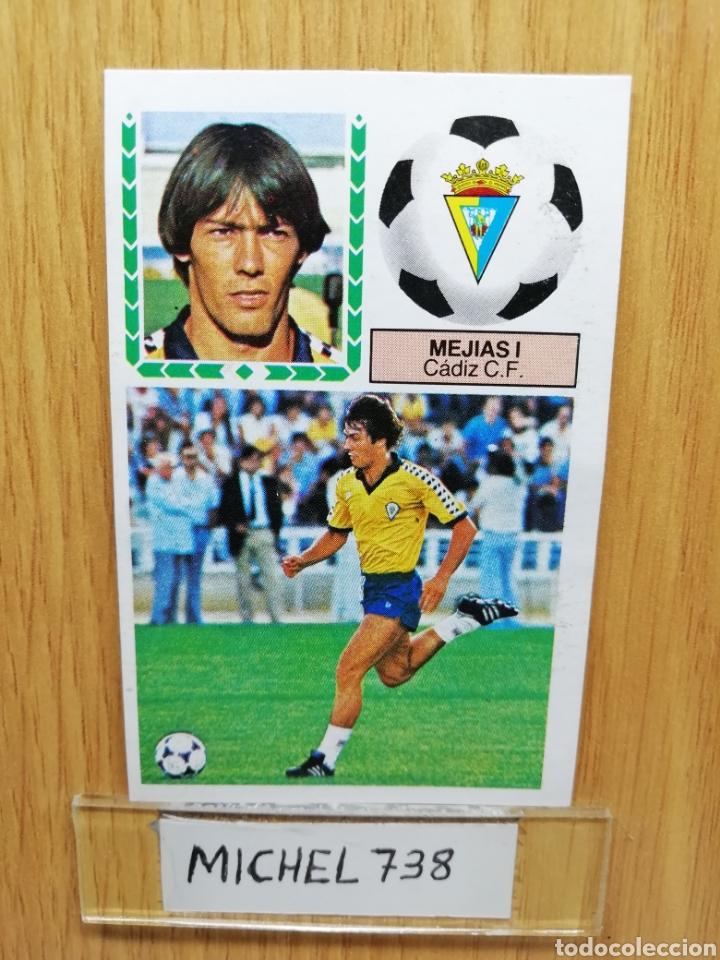 ESTE LIGA 83 /84.. MEJÍAS I... CÁDIZ.. VERSION MEYBA.. RECUPERADO (Coleccionismo Deportivo - Álbumes y Cromos de Deportes - Cromos de Fútbol)