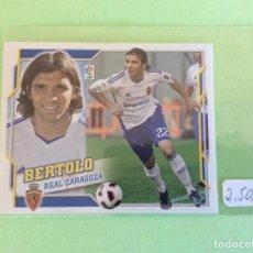Cromos de Fútbol: LIGA ESTE - 2010-2011 - REAL ZARAGOZA - BERTOLO- ÚLTIMOS FICHAJES -Nº 37. Lote 156572418