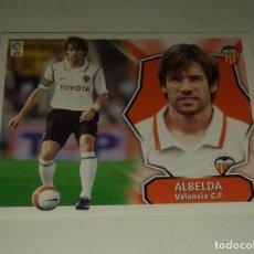 Cromos de Fútbol: CROMO ALBELDA VALENCIA LIGA 08 09 COLOCA. Lote 156782906