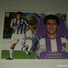 Cromos de Fútbol: CROMO CANOBBIO VALLADOLID LIGA 08 09 ULTIMOS FICHAJES 15. Lote 156809234