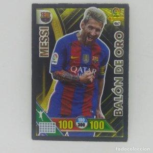 467 Messi. Balón de Oro. Adrenalyn 2016 2017 Panini Liga BBVA 16 17